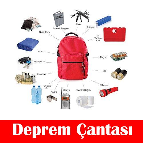 Deprem Çantası – Afet ve Acil Durum Çantası – ledfener.com